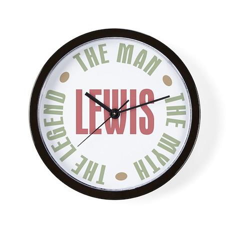Lewis Man Myth Legend Wall Clock