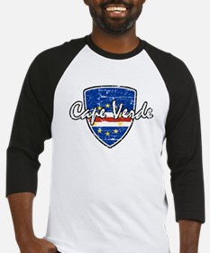 Cape Verde distressed flag Baseball Jersey