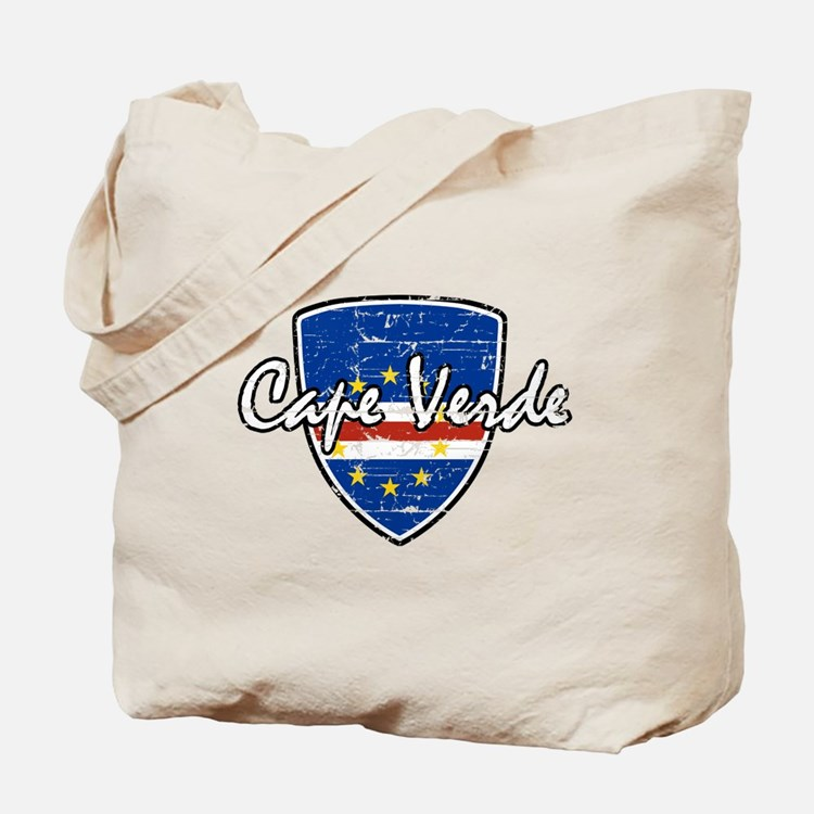 Cape Verde distressed flag Tote Bag