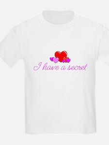 I Have a Secret - Hearts Desi T-Shirt