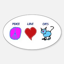Cat lover Oval Decal