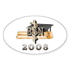 BSN Grad 2008 Oval Decal
