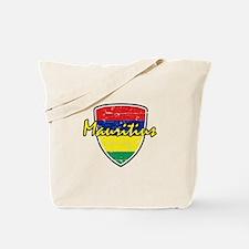 Mauritius distressed Flag Tote Bag