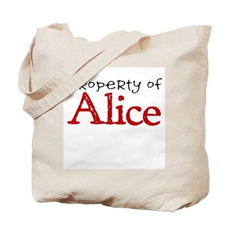 Property of Alice Tote Bag