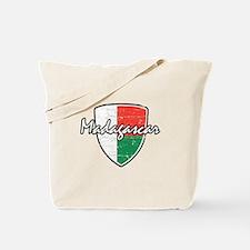 Madagascan distressed flag Tote Bag