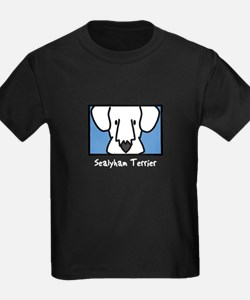 Anime Sealyham Terrier Kids Black TShirt