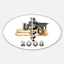 Osteopathic 2008 Oval Decal