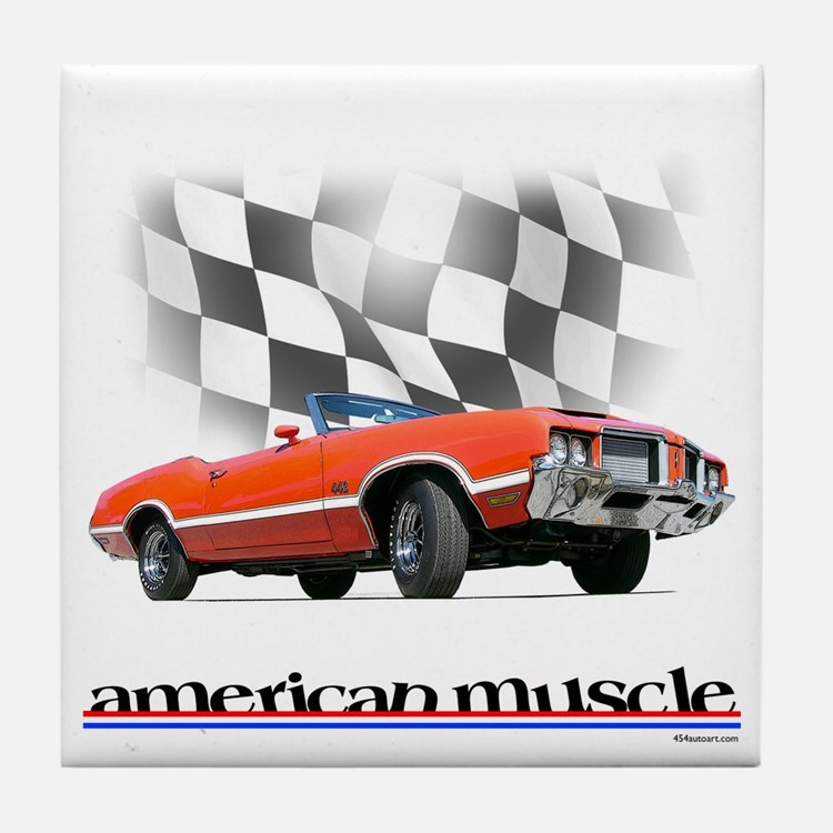 442 Ragtop Muscle Tile Coaster