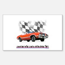 442 Ragtop Muscle Rectangle Decal