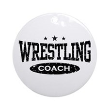 Wrestling Coach Ornament (Round)
