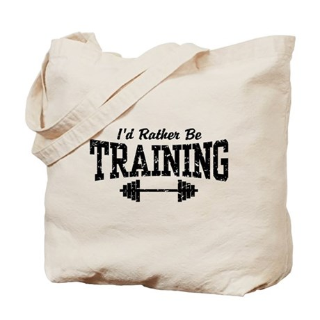 I'd Rather Be Training Tote Bag