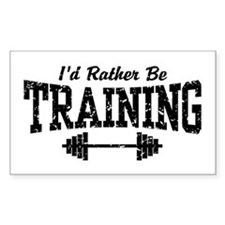 I'd Rather Be Training Rectangle Decal