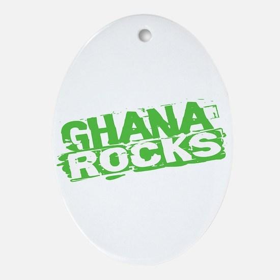 Ghana Rocks Oval Ornament