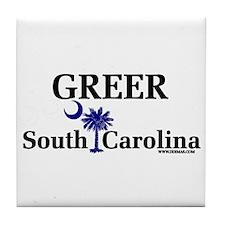 Greer South Carolina Tile Coaster