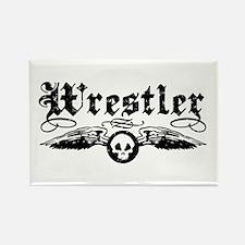 Wrestler Rectangle Magnet