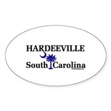 Hardeeville South Carolina Oval Decal