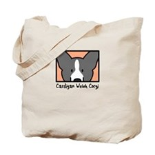 Anime BW Cardigan Welsh Corgi Tote Bag