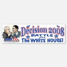 Obama vs McCain 2008 Bumper Bumper Bumper Sticker