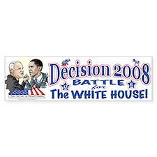 Obama vs McCain 2008 Bumper Bumper Sticker