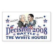 Obama vs McCain 2008 Rectangle Decal