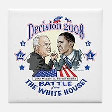 Obama vs McCain 2008 Tile Coaster