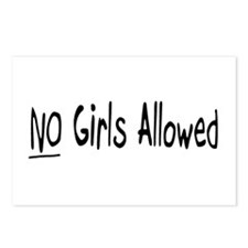 No Girls Allowed Postcards (Package of 8)