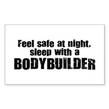 Feel Safe with a Bodybuilder Rectangle Decal