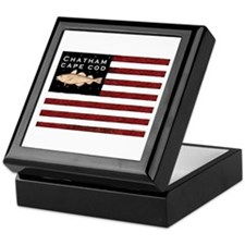 """Chatham Cape Cod"" Flag Keepsake Box"