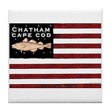 """Chatham Cape Cod"" Tile Coaster"