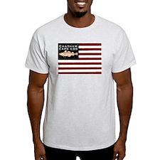 """Chatham Cape Cod"" Flag Foggy Gray T-Shirt"