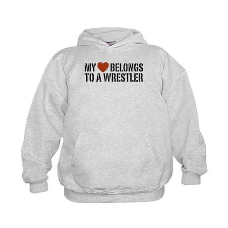 My Heart Belongs to a Wrestler Kids Hoodie