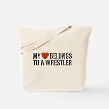My Heart Belongs to a Wrestler Tote Bag