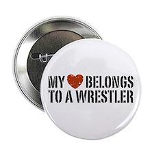"""My Heart Belongs to a Wrestler 2.25"""" Button"""
