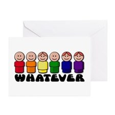 Gay Pride Whatever Greeting Cards (Pk of 10)