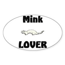 Mink Lover Oval Decal