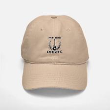 Dad Rocks Baseball Baseball Cap