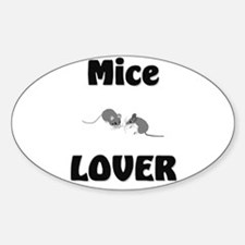 Mice Lover Oval Decal