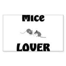 Mice Lover Rectangle Decal