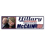 Hillary4McCain Bumper Sticker