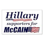 Hillary4McCain Rectangle Sticker