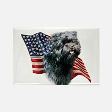 Affenpinscher Flag Rectangle Magnet (10 pack)