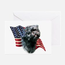 Affenpinscher Flag Greeting Card