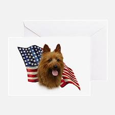 Australian Terrier Flag Greeting Card