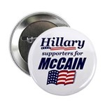 "Hillary4McCain 2.25"" Button (100 pack)"