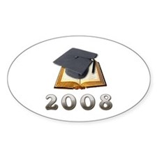 2008 Graduate Oval Decal