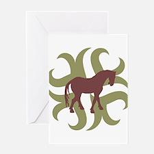 Tang Horse Tribal Greeting Card