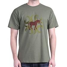 Tang Horse Tribal T-Shirt
