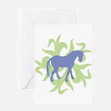 Tang Horse Tribal2 Greeting Card