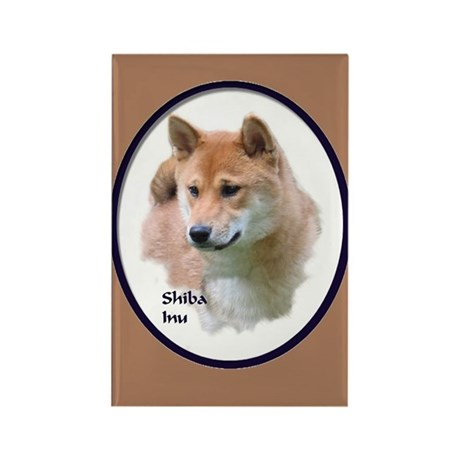 Shiba Inu Art Rectangle Magnet (100 pack)