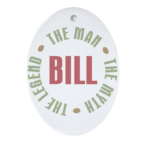 Bill Man Myth Legend Oval Ornament